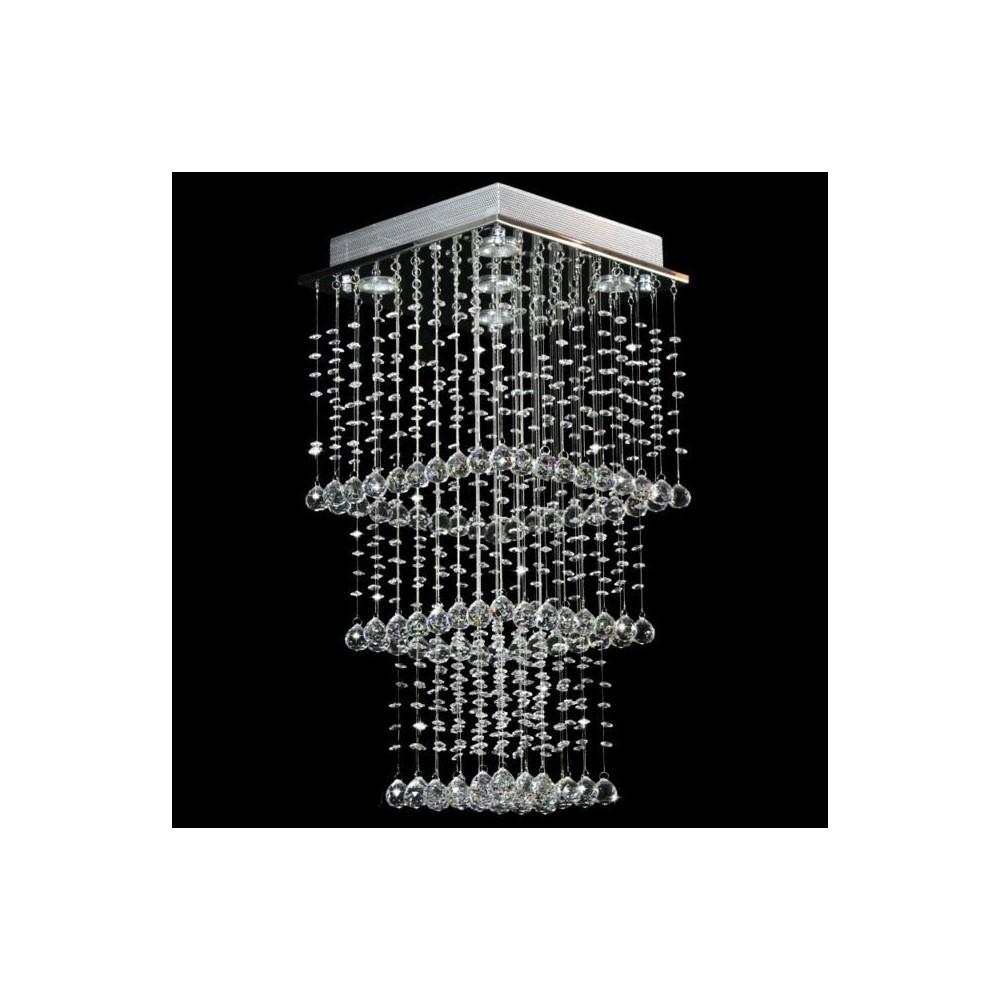 Kryształowy Żyrandol Wiszący Exodus 70cm do Salonu Salon Sypialnia