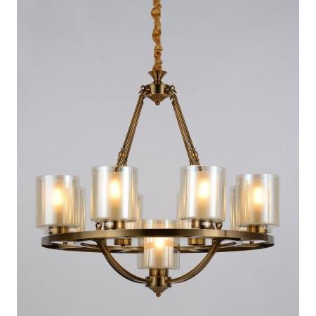 Żyrandol 9 ramienny Santino lampa wisząca loft mosiężna  W9