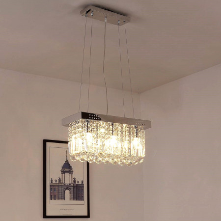 Nowośc Lampa Kryształowa nad Stół 50cm Kajra Wisząca Kryształy