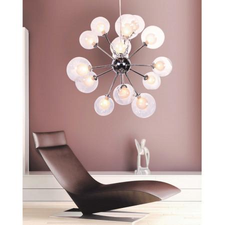 Nowoczesna lampa wisząca Modus 80 cm kule 15 szklanych kul ball design