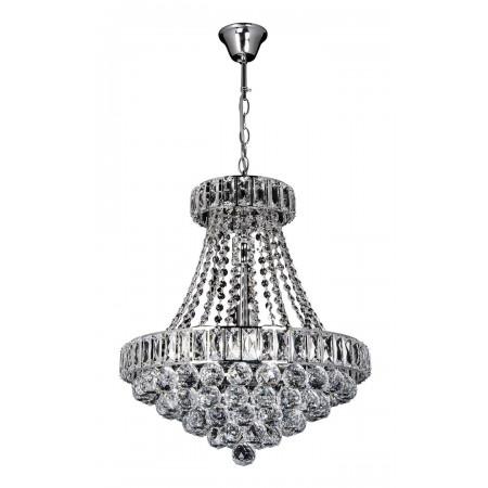 Żyrandol kryształowy wiszący Pallas pałacowy srebro chrom kryształ glamour
