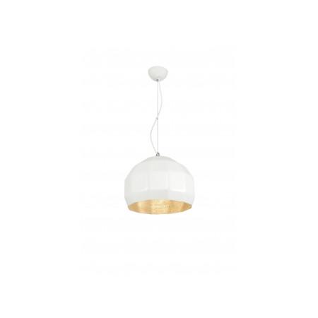 Lampa sufitowa wisząca ESPO biała złota 30 cm