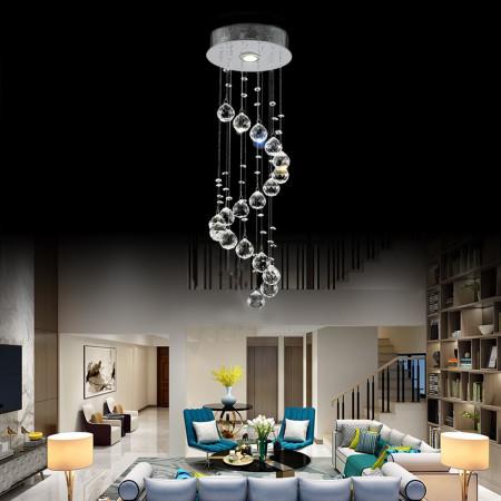 Żyrandol Kryształowy Sofi Chromowany 50cm do Sypialni Salonu