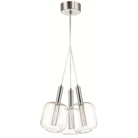 Lampa wisząca PACYFIK-3 round LED 40 cm Chrom potrójna nad stół regulowana wysokość PROMOCJA