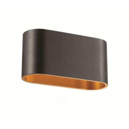 Kinkiet EASY II nowoczesny czarny złoty