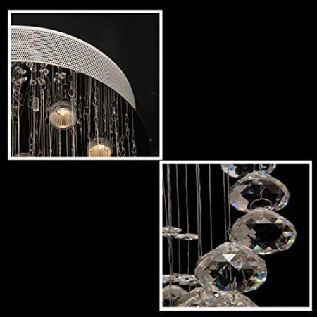 Ogromny Żyrandol Kryształowy Sonni Zwisający 180cm Prawdziwy Kryształ Hit