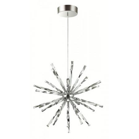 Lampa sufitowa wisząca HIKARI LED chrom 120 cm srebrna