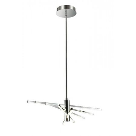 Lampa sufitowa wisząca TANGO LED nowoczesna skrzydło chrom 108 cm