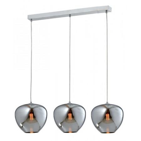 Lampa sufitowa wisząca AURA potrójna 120 cm chrom