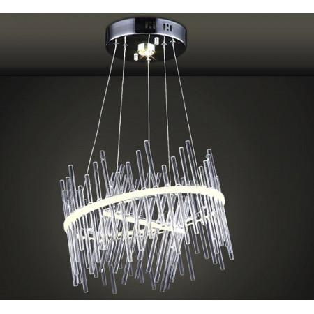 Żyrandol Ring LED Szkło Art Deco Glass 40cm Ledowy Okręgi