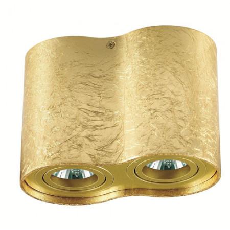 Reflektor spot oprawa TUBA NERO 2 złoty podwójny