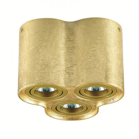 Reflektor spot oprawa TUBA NERO 3 złoty potrójny