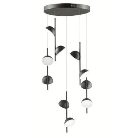 Lampa sufitowa wisząca RIGATON II LED czarna nowoczesna loft 120 cm