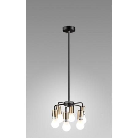 Lampa sufitowa wisząca INGA I miedziana czarna loft 120 cm