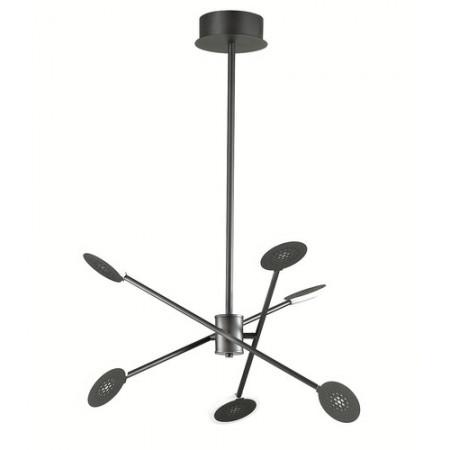 Lampa sufitowa wisząca FORTE LED czarna nowoczesna loft 83 cm