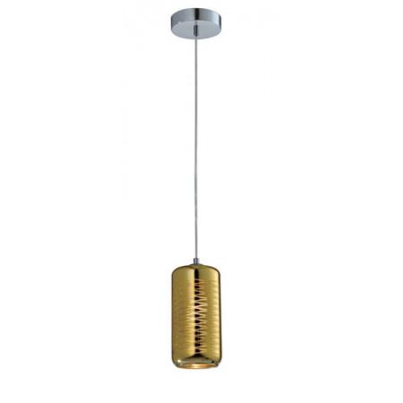 Lampa sufitowa wisząca SINA I złota zdobione szkło pojedyncza 120 cm