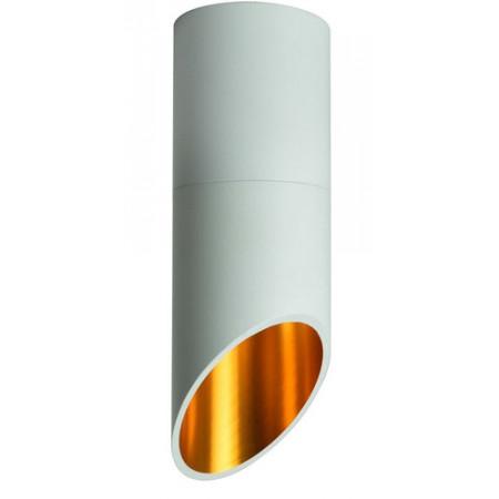 Plafon kinkiet sufitowy TEVERE II LED nowoczesny biały złoty 20 cm