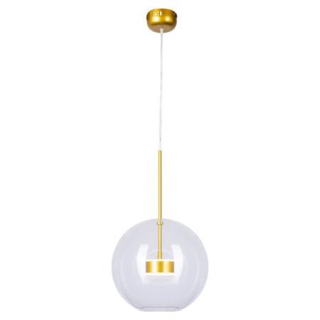 Lampa wisząca BUBBLES 1 led złoto 3000K szklana kula gold