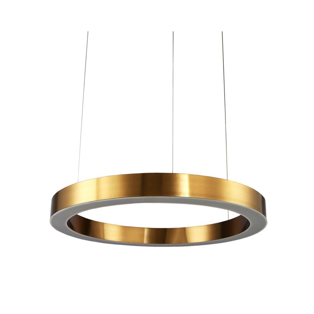 Lampa wisząca CIRCLE 60 ledowa 60 cm mosiądz ring led