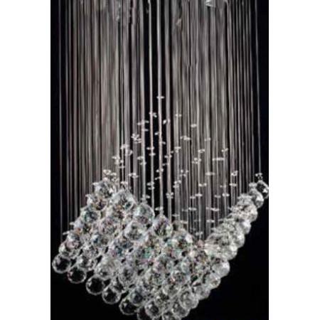 Lampa kryształowa ATERA LED półkula szkło kryształy 35 cm