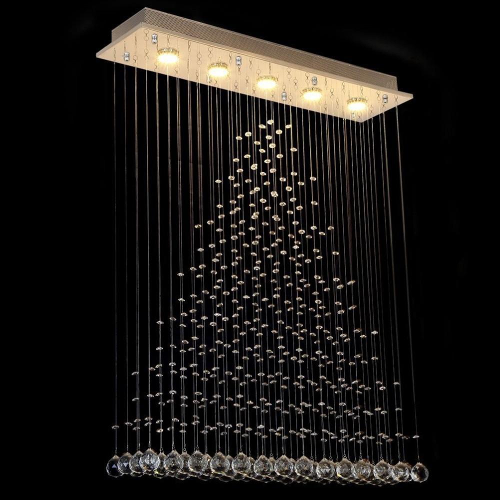 Kryształowa Lampa Bagatto Żyrandol Kryształowy 80cm do Salonu Sypialni LED