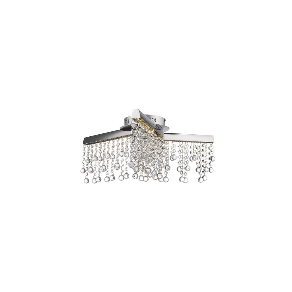 Plafon TORNERO LED kryształ srebrny chrom 45 cm lampa kryształowa