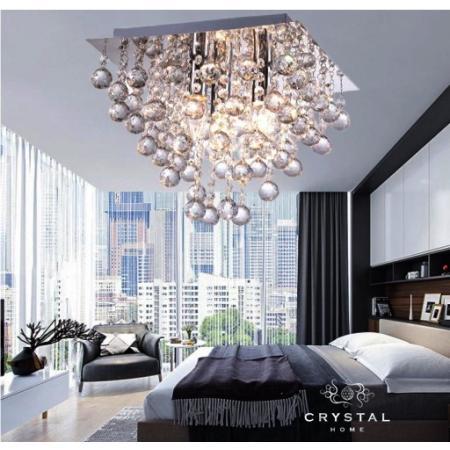 Lampa Kryształowa Koral Wiszaca Plafon 42cm