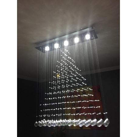 Lampa kryształowa wisząca 3D 100 cm Crystal Home oryginalny kryształ