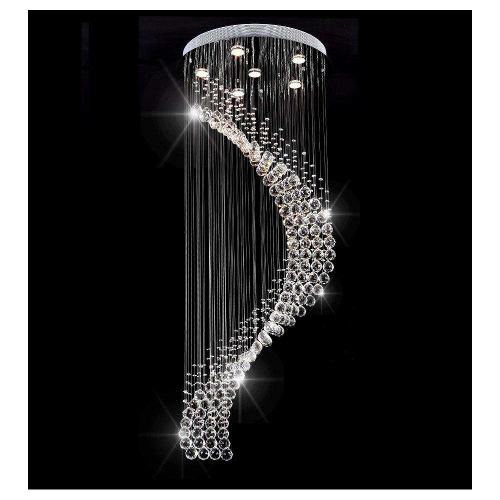 Lampa Kryształowa 150cm nad Schody Mini Kaskada Rozmiar