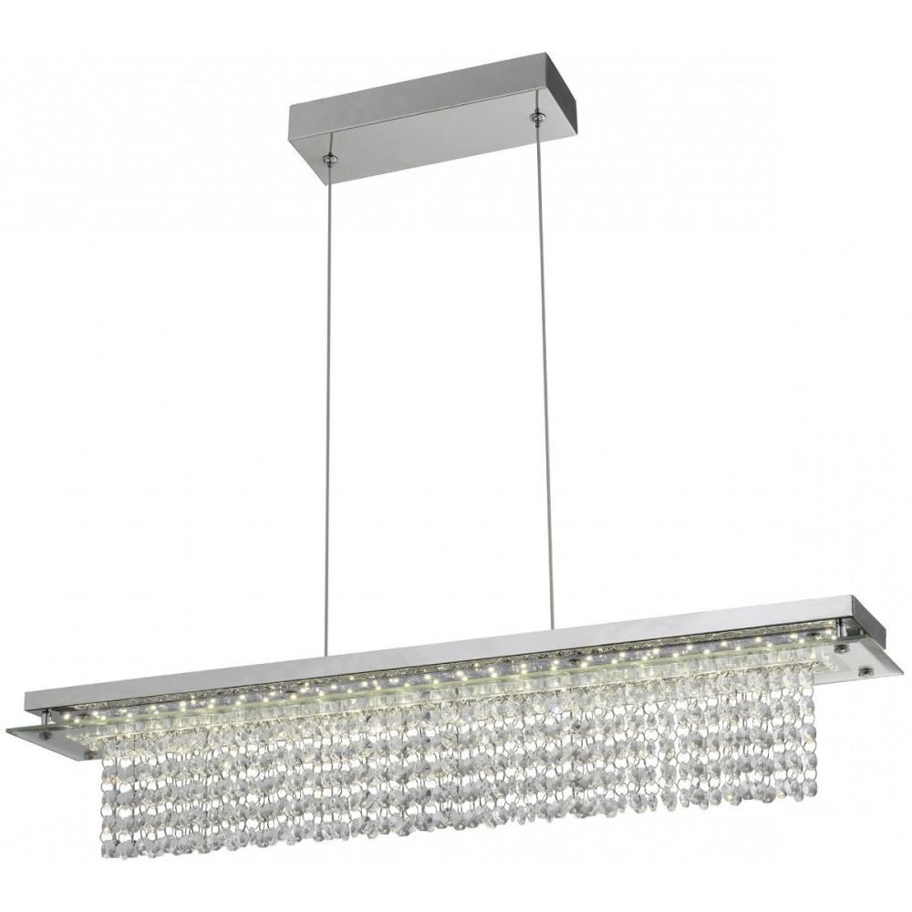 Lampa Kryształowa Odena Wiszaca Zwisająca nad Stół 70cm LED