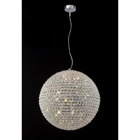 Lampa Wiszaca Kryształowa Kula 40cm Regulowana Długość Kryształy