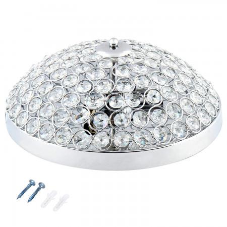 Lampa Sufitowa Flur Plafon Kryształowy