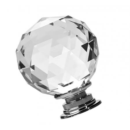 Gałka Kryształowa 40mm Uchwyt do Mebli Kryształowy Kula