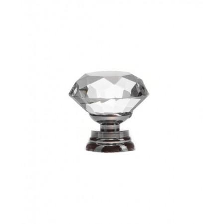 Gałka Kryształowa 30mm Uchwyt do Mebli Kryształowy Diament