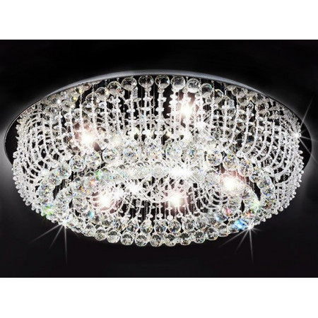 Lampa kryształowa KARLOS 50 cm 6xGU10 żytrandol kryształowy