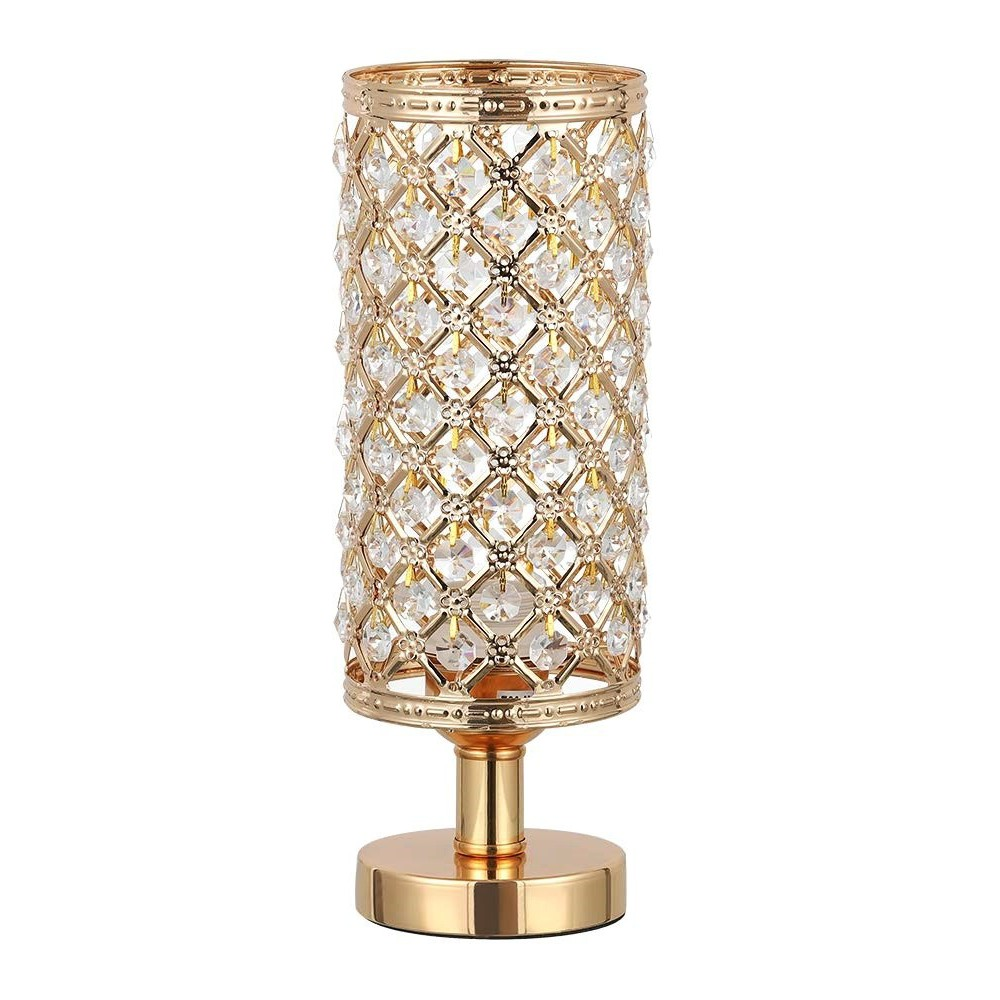 Lampka Nocna Kryształowa Złota Art Deco Glamour Lampka Stołowa Diy