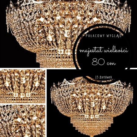 Kinkiet kryształowy kwadraty lampa ścienna kryształowa PROMOCJA