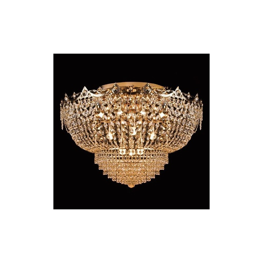 Żyrandol kryształowy SOFI chromowany 50 cm DO SYPIALNI SALONU
