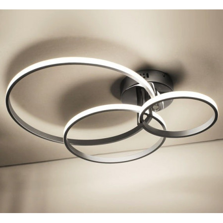 Cameron 3 Ring [4000K Biała Neutralna] Lampa Sufitowa LED 55x60cm 52W Dowolna Konfiguracja