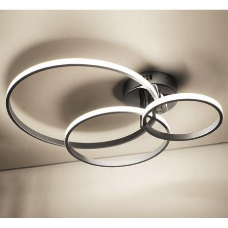 PRPMOCJA Lampa kryształowa 60 cm ROJAS chrom LED do salonu żyrandol wiszący