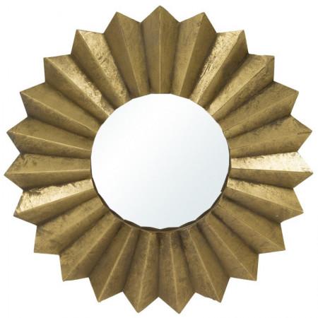 Złote lustro metal 57 cm zdobienia Gatsby Art Deco Gold