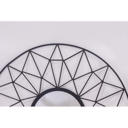 Black lustro metal 80 cm XXL czarne zdobienia Gatsby Art Deco