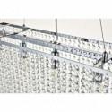 Lampa kryształowa wisząca ORSANA regulowana długoścć