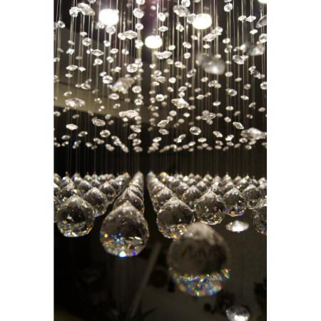 Ogromna lampa kryształowa TARANKO wisząca 150 cm hol recepcja kryształ