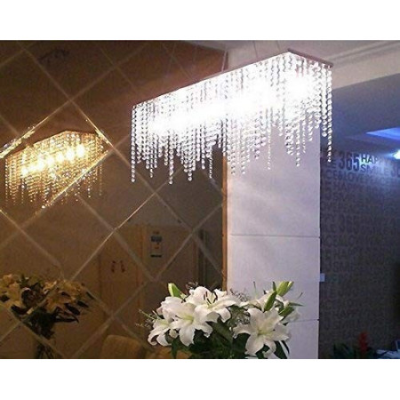 Lampa Kryształowa Wisząca Klein nad Stół 80cm Prawdziwy Kryształ