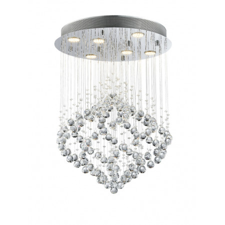 Lampa kryształowa wisząca SPREAD 70 cm 6xGU10