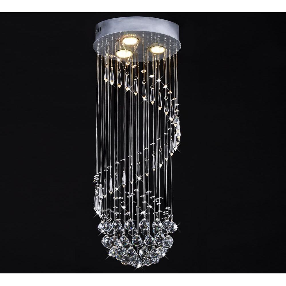 Lampa Kryształowa 80cm do Salonu Reso